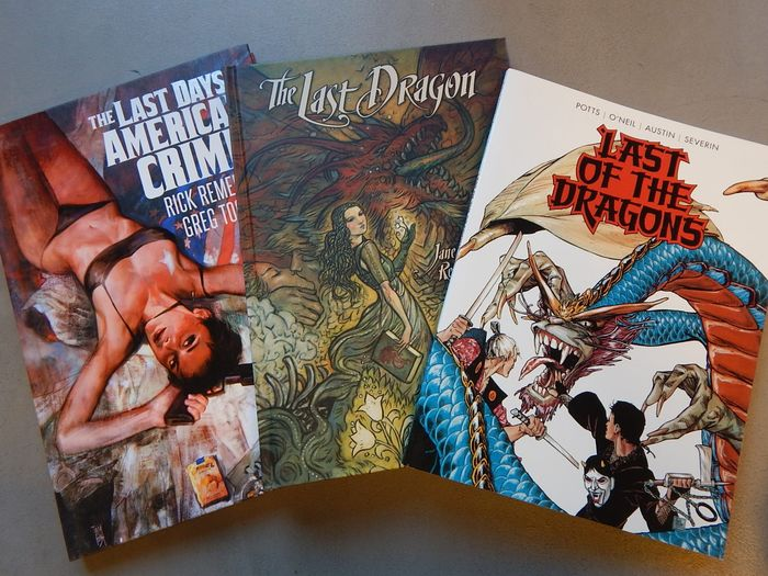 Lot van 3 uitgaven: Last of the Dragons + The Last Days of American Crime + The Last Dragon - 2x hc + 1x sc - Hardcover - 1st edition - (2011/2015)