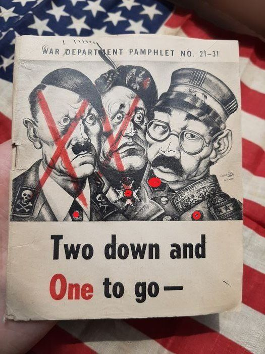 United States - Official US Army Soldier Propaganda Booklet defeat of Germany - next Japan! April - 1945