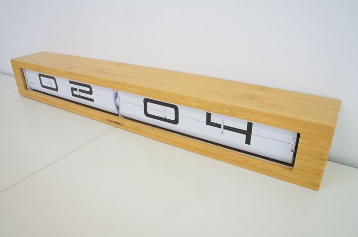 Cloudnola Design Studio  - Cloudnola - Clock - Long Flip Klok Timeline (length 60 cm)