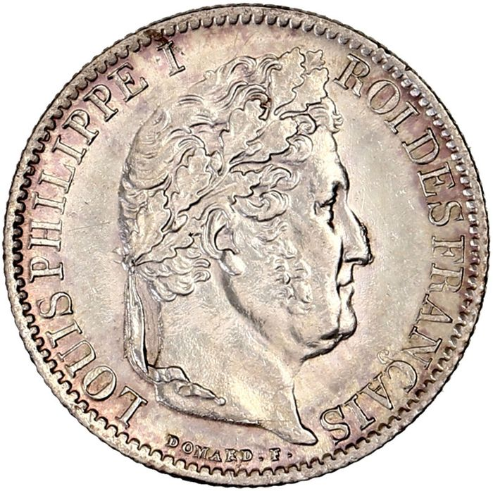 France - Louis Philippe I - 50 Centimes 1845-B (Rouen) - Silver
