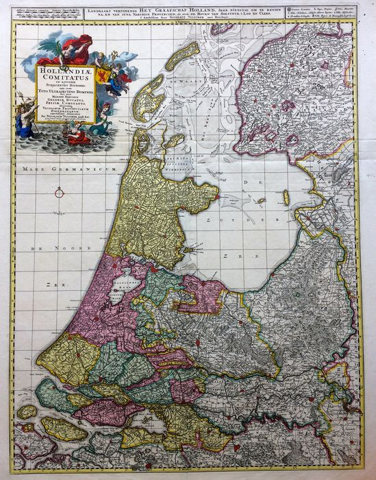 Netherlands, Holland, Utrecht; Nicolaas Visscher - HOLLANDIÆ COMITATUS in ejusdem Subjacentes Ditiones; una cum Toto Ultrajectino Dominio - 1690