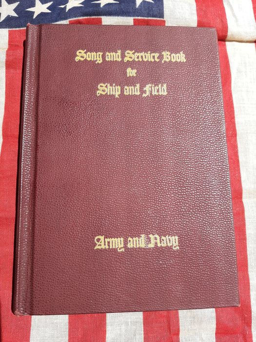 United States - Rare Official US Army Song and Service Book - Last Will - KIA - Bible - Miitary Chaplain - Military Burials - 1942