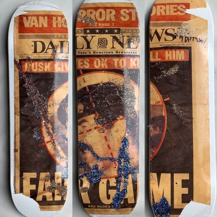 Supreme skateboard - SNOW in collaboration with Dash Snow of 2016 (3x)