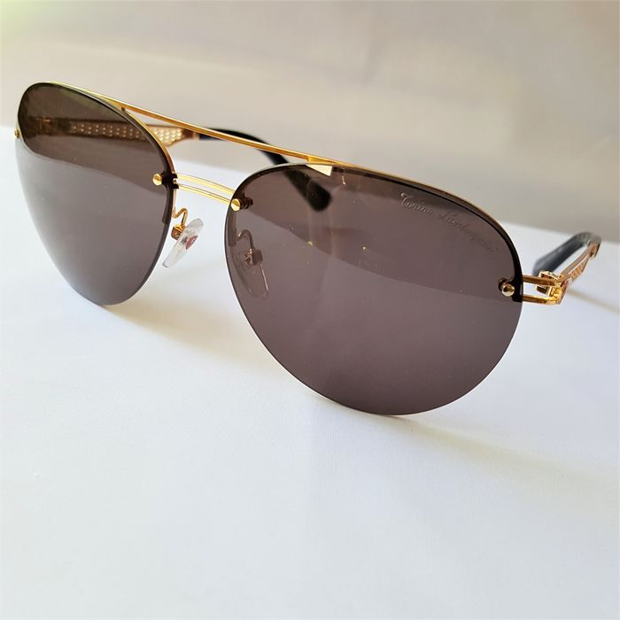 Sunglasses - Lamborghini - Aviator Gold Special Frame - 2020 - Made in Italy - New - Lamborghini