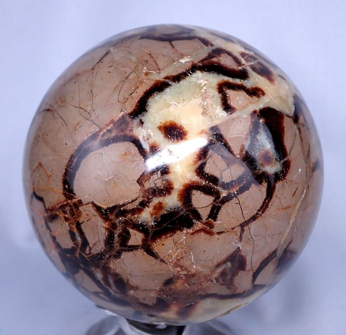 Big Amazing Septarian Sphere - 127.6×127.6×127.6 mm - 3255 g