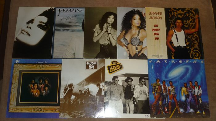 """Jacksons & Related - 9 great albums - Multiple titles - LP's, Maxi single 12""""inch - 1980/1989"""