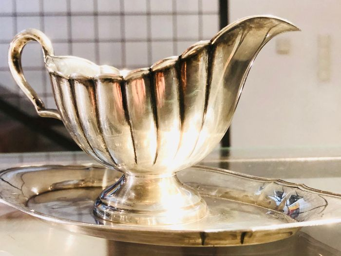 Sauce boat - .800 silver - Germany - Second half 20th century