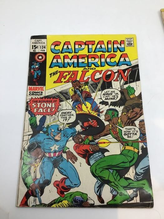Captain America - Long run of 51 Captain America and the Falcon issues (# 134-167, 169-177, 179-186, 221) - Broché - EO - (1970/1978)