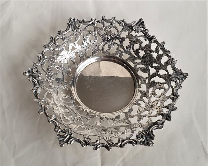Dutch silver biscuit bowl - .835 silver - Netherlands - 1936