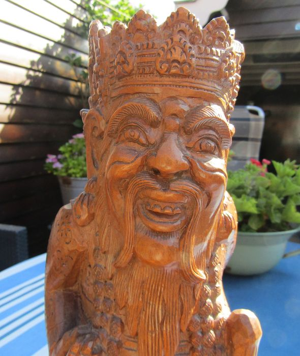 Carving (1) - Wood - Balische priester - Bali, Indonesia