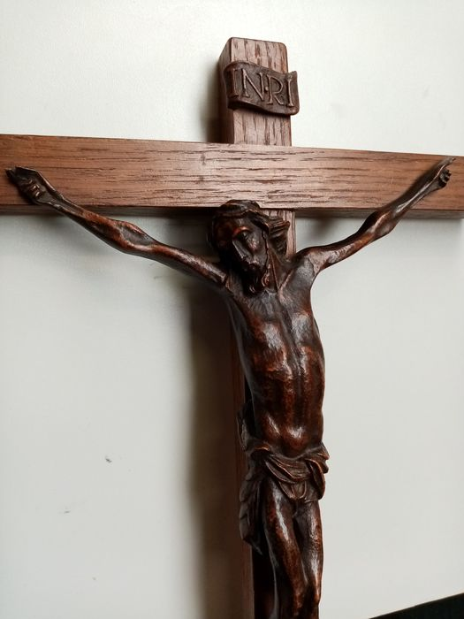 Cross with wooden body - Wood - First half 19th century