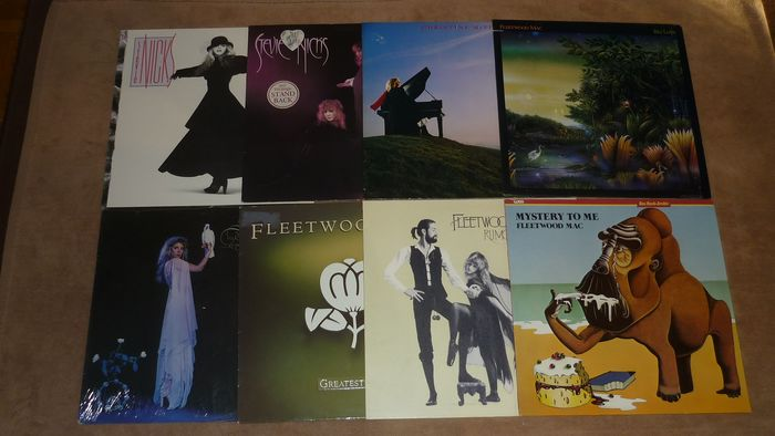 """Fleetwood Mac & Related - 8 classic albums - Multiple titles - LP's, Maxi single 12""""inch - 1977/1988"""