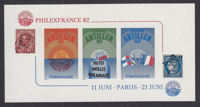 Netherlands Antilles 1982 - Philexfrance, variety 'completely imperforate' - NVPH 722