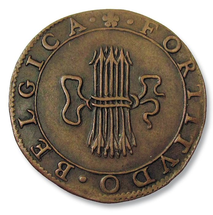 Netherlands - Spanish Netherlands - AE jeton 1612: on the 4th year of the truce (The 12 Year Truce) jeton / rekenpenning / counter - Dordrecht mint - Copper