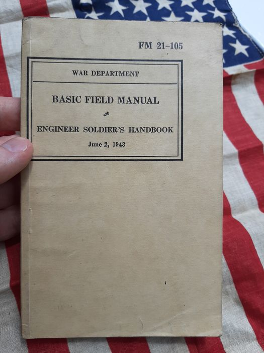 United States - Official US Army Soldiers Engineers Handbook - Explosives - Bangalore - Invasion - 1942