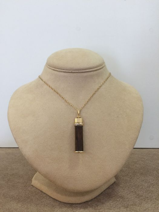 Cartier - 18 kt. Pink gold, White gold, Yellow gold - Necklace with pendant Wood