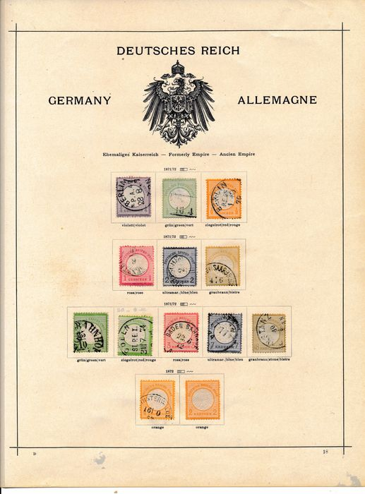 """German Empire 1872/1923 - Nearly complete collection with many top values, like """"Nothilfe"""" (Emergency Aid) sets, """"Zeppelins"""" und fast allen Brustschilden dabei Nr. 11 & 28"""
