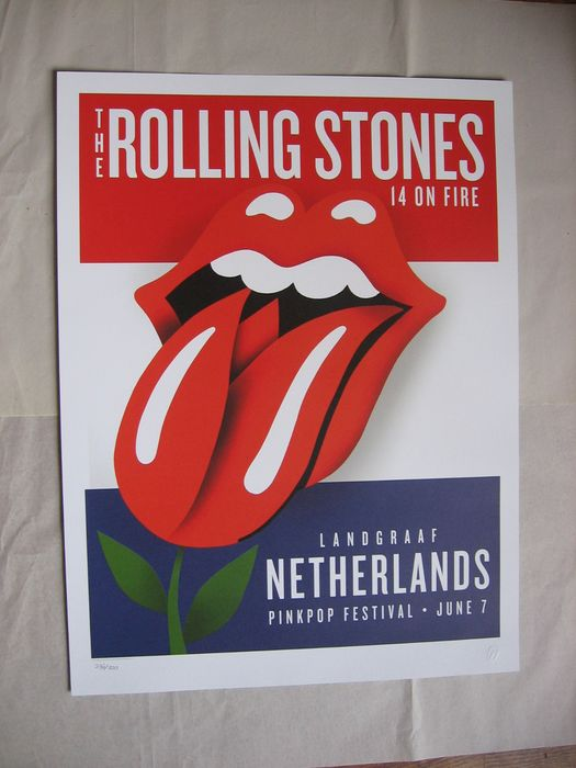 Rolling Stones - 14 on Fire Pinkpop - Original Lithograph - 2014/2014