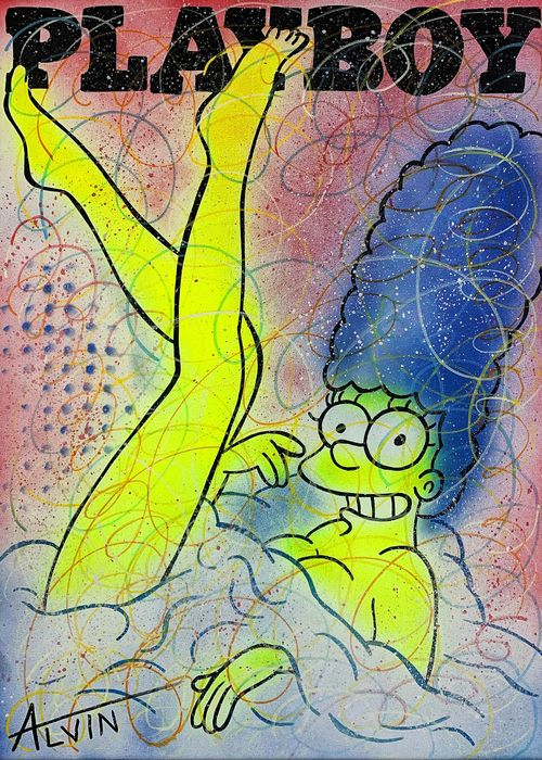 Alvin Silvrants - The Simpsons Miss Marge Playboy cover