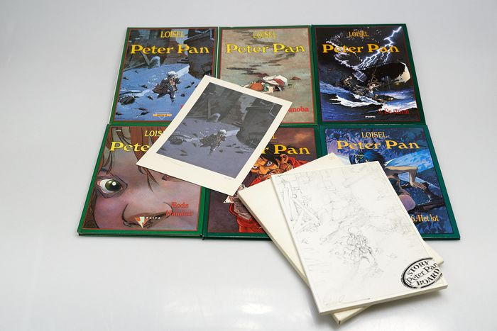 Peter Pan 1 t/m 6  - plus storyboard + gesigneerde print - Hardcover - Softcover - Different editions - (1991/2005)