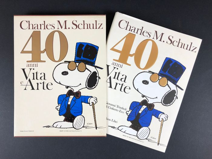 "Peanuts / Snoopy - vol. ""40 anni Vita e Arte"" in cofanetto - Hardcover - First edition - (1990)"