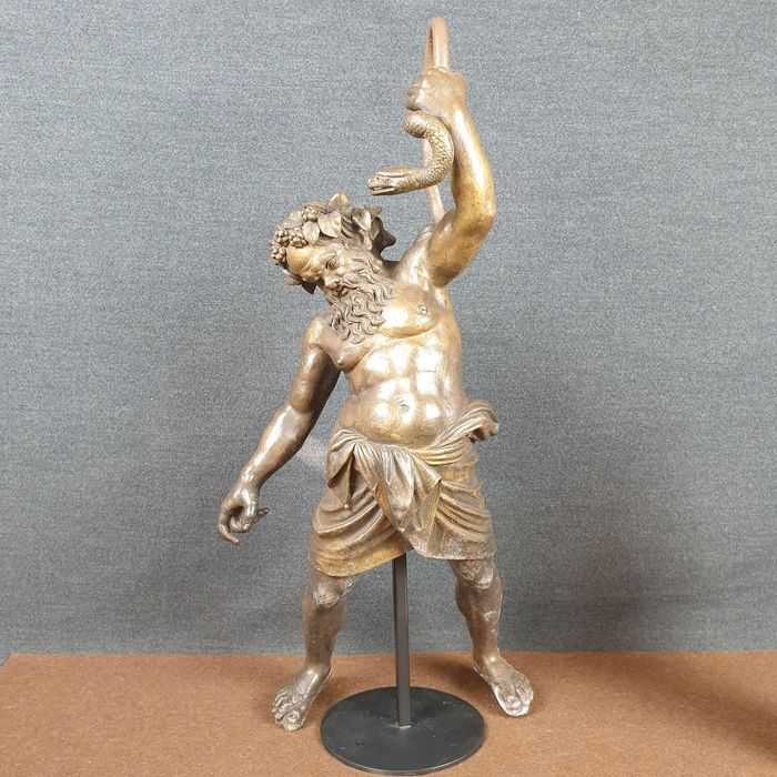 Ancient and large sculpture of Bacchus - 54 cm - Bronze - Late 19th century