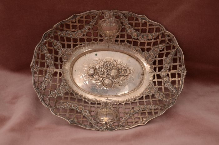 Serving Bowl - .800 silver - Germany - Early 20th century