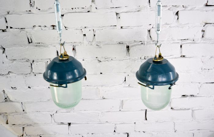 Hanging lamp, Industrial Soviet Union Lamps (2)