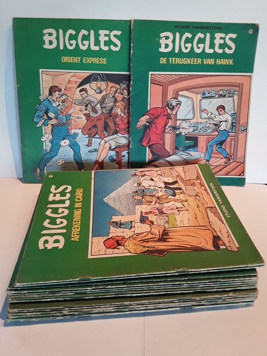Biggles - serie Biggles, minus nummer 6 - Stapled - First edition - (1965/1969)