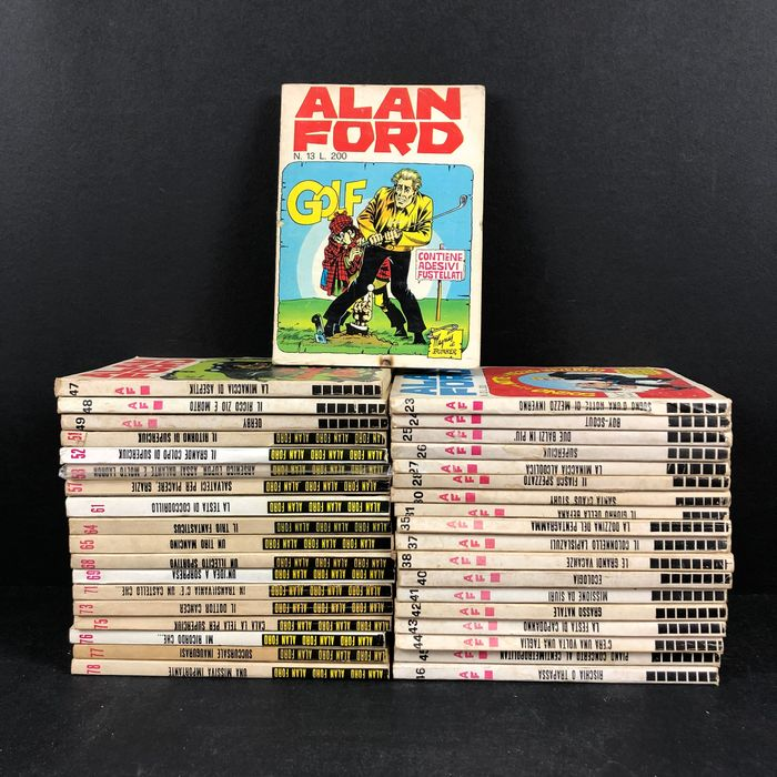Alan Ford - 37x albi - Trade Paperback - First edition - (1970/1975)