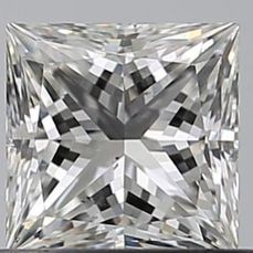 1 pcs Diamant - 0.55 ct - Princess - F - SI1, No Reserve
