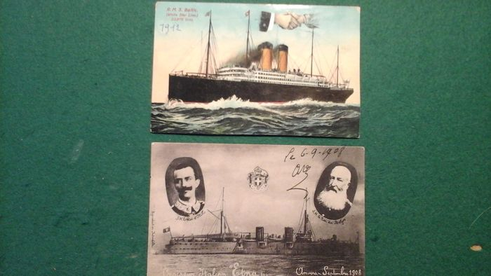 Ships on all seas - Ships - 100 - Postcards (Collection of 60) - 1900-1950
