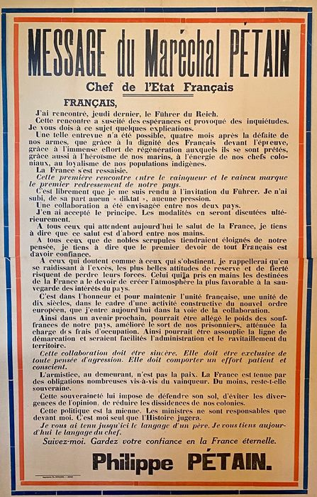 Anonymous - Message du Maréchal Pétain - 1940