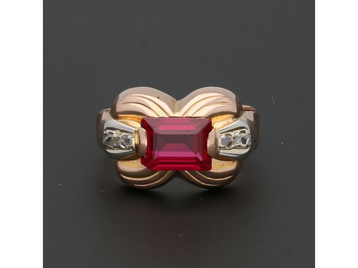 18 kt. Pink gold - Ring - 1.58 ct Ruby