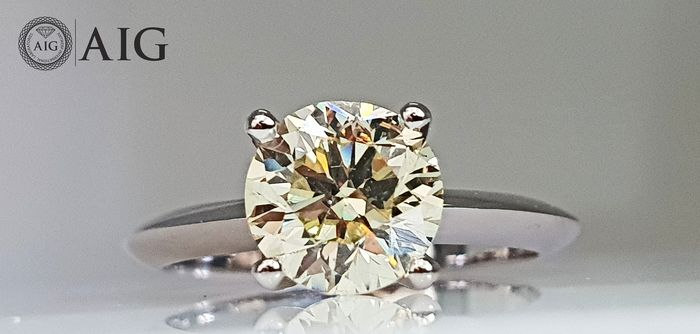 14 kt. White gold - Ring - Clarity enhanced 2.05 ct Diamond - No Reserve
