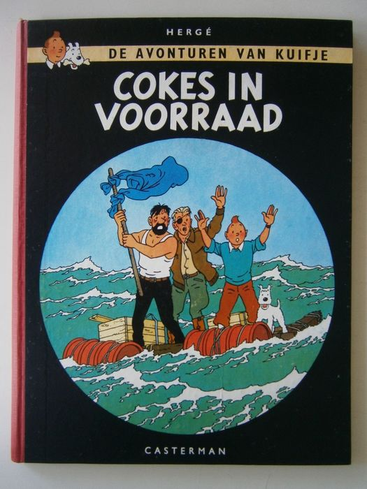 Kuifje 18 - Cokes in voorraad - Hardcover - First edition - (1958)