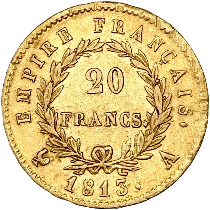 France. 20 Francs 1813-A, Paris