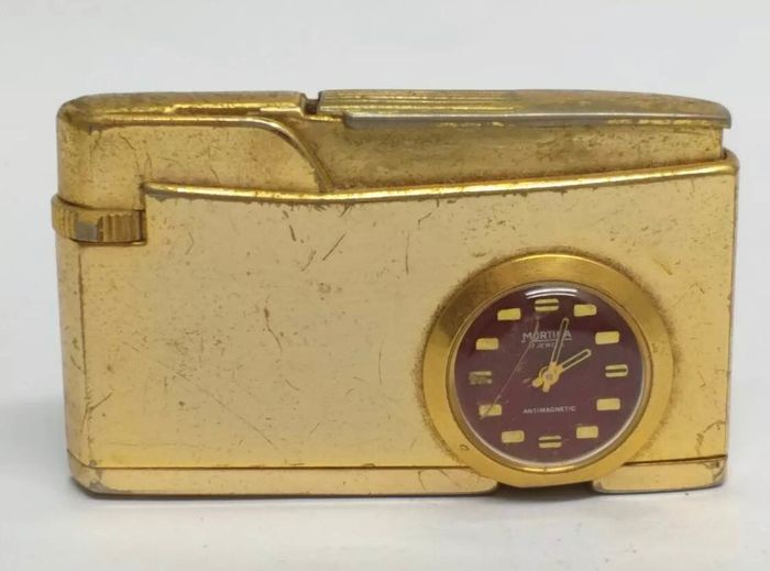 Lighter - Vintage Lighter W/ Mortima 17 Jewels Watch - Collection