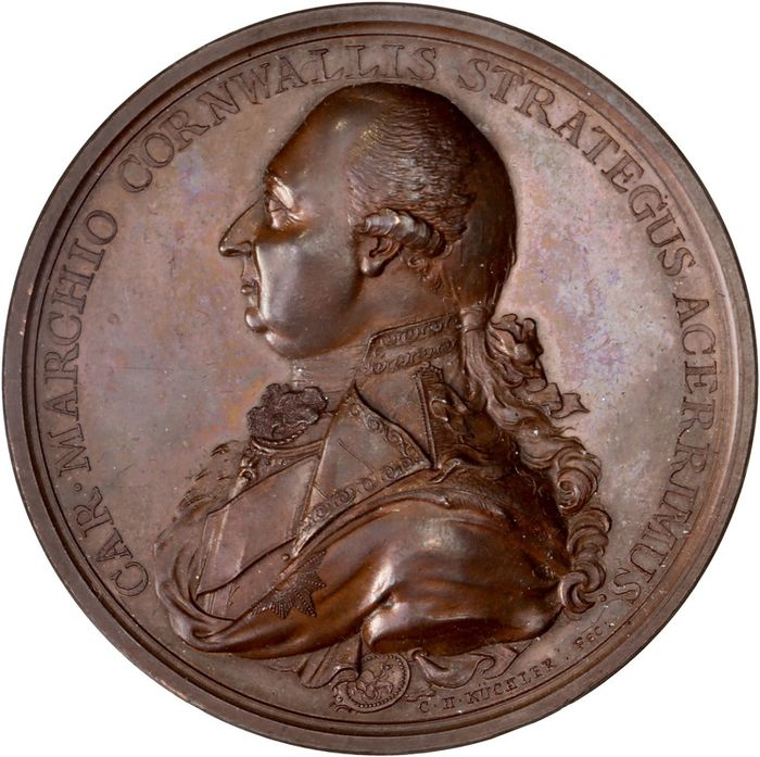 "United Kingdom - Médaille ""Marquis Cornwallis - Defeat of Sultan Tippoo"" 1792"