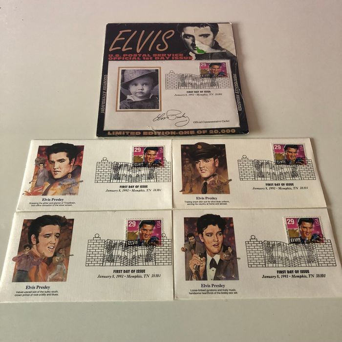 Elvis Presley - Limited edition, First Day of Issue - Elvis Presley Stamp - 1993/1993