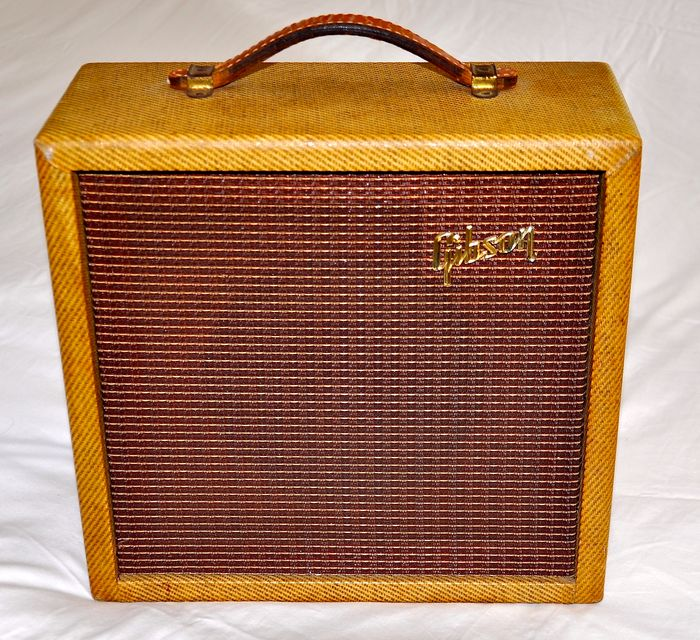 Gibson - Originele 1962 Gibson GA-5T Skylark Tremelo Tweed - Amplifier with very rare Tremelo Speed - United States of America - 1962