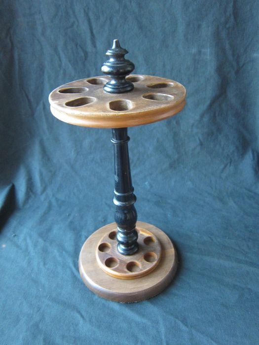 Walking stick holder, stand for 7 walking sticks - Wood - First half 20th century