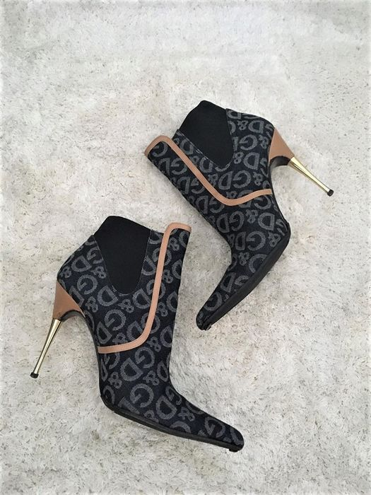 D&G - Logo Denim and leather Ankle boots - Size: EUR 39