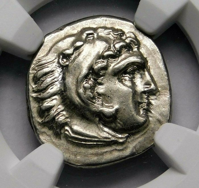 Greece - Kingdom of Macedonia. AR Drachm, Philip III Arrhidaios (323-317 BC)  In the types of Alexander III. Lampsakos mint - Silver