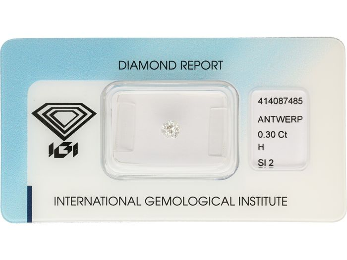 1 pcs Diamante - 0.30 ct - Antiguo corte europeo - H - SI2 ***No Reserve***