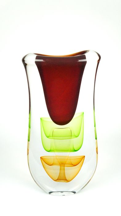 """Valter Rossi  - Murano - Submerged Vase """"4 Season Collection"""" - (cm 47) - (kg 13.2)"""