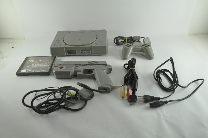 Sony, Sony Playstation 1 Console Time Crisis Set Playstation - Console met Games