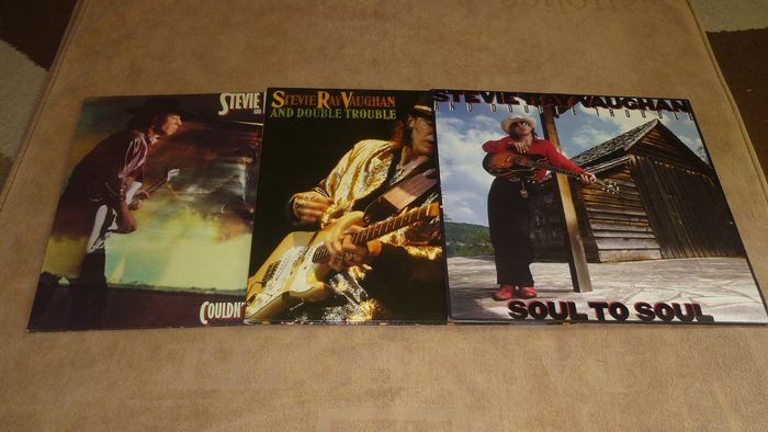 Stevie Ray Vaughan - 3 Albums - Soul to Soul - Live Alive - Couldn't Stand The Weather - ALL FIRST PRESSES - Multiple titles - 2xLP Album (double album), LP's - 1984/1986
