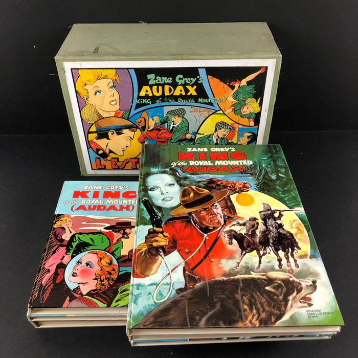 """Audax - """"King of the Royal Mounted"""" - 6x vol. serie completa - Hardcover - First edition - (1978/1980)"""
