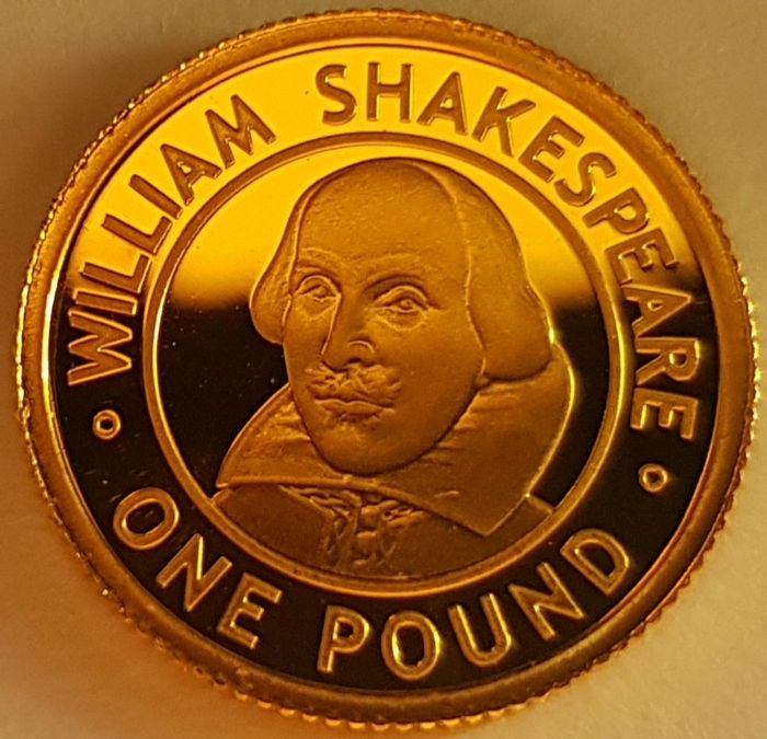 Alderney - One Pound 2006 'William Shakespeare - Elizabeth II' 1 / 25 Oz - with a Certificate of Authenticity - Oro